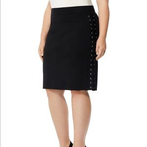 HP- 4/10 🎉🎉🎉🎉 Lace-Up Pencil Skirt